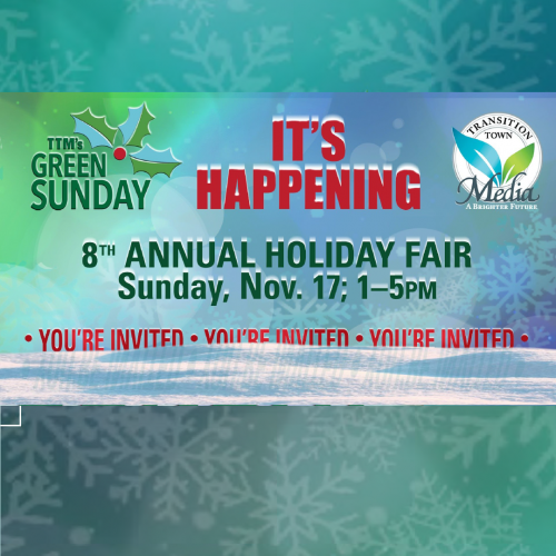 Transition Town Media's 8th Annual Green Sunday Craft Show