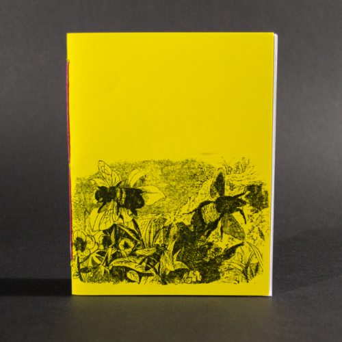 Bees and flowers are on the cover of this yellow octavo pamphlet book