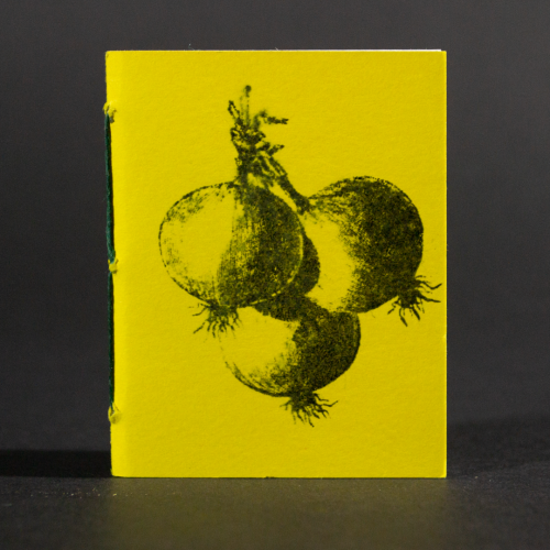 Yellow beets are on the cover of this mini pamphlet book
